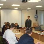 Дрюпин Андрей выступает с докладом