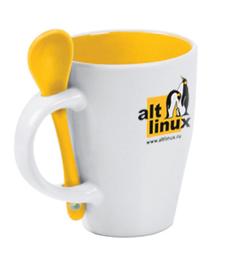 ALT Linux кружка и ложка